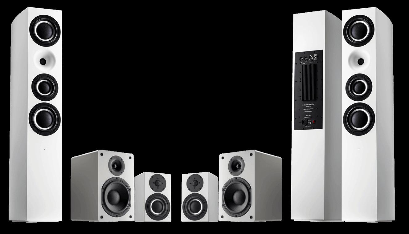 Produktfamile von Schanks Audio mit Monitor 1, Prisma 2 und Prisma 3