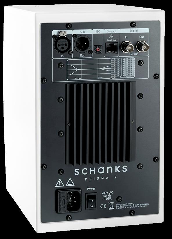 Rückseite der Schanks Audio Prisma 2